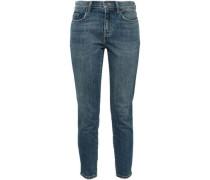 The Stiletto Cropped Mid-rise Skinny Jeans Dark Denim
