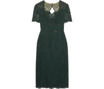 Cutout Lace Midi Dress Dark Green Size 12