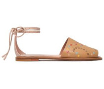 Studded Leather Sandals Sand