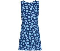 Floral applique giuipure lace mini dress