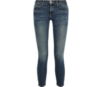 The Stiletto Cropped Low-rise Skinny Jeans Mid Denim  4