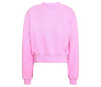 The Milan French Cotton-terry Sweatshirt Bubblegum