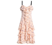 Edie ruffled printed silk midi dress