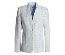 Monet Bouclé-tweed Blazer Sky Blue Size 12