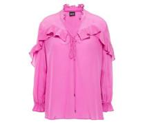 Woman Ruffled Silk-chiffon Blouse Pink