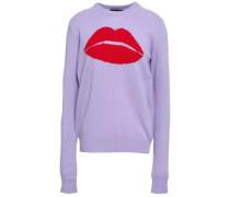 Mia Intarsia Wool Sweater Lavender