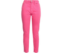 The Ultra High Waist Cropped High-rise Skinny Jeans Bright Pink  3