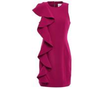 Kimberlin Ruffled Brushed-crepe Mini Dress Magenta
