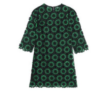 Cotton-blend guipure lace mini dress