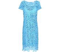 Chloe Guipure Lace Mini Dress Light Blue