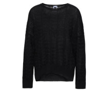 Wool-blend Jacquard Top Black