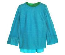 Metallic Knitted Top Azure