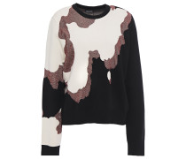 Woman Metallic Intarsia-knit Sweater Multicolor