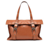 Leather Tote Light Brown Size --