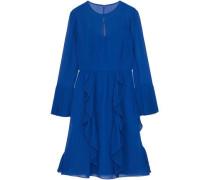 Cutout ruffled chiffon dress