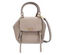 Pebbled-leather Shoulder Bag Mushroom Size --