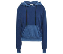 Two-tone French Cotton-terry Hoodie Indigo
