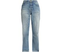 Faded Mid-rise Straight-leg Jeans Mid Denim  5