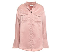Washed Cotton And Silk-blend Shirt Antique Rose