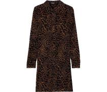 Juliet Leopard-print Devoré-velvet Mini Dress