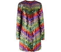 Sequined tulle mini dress