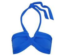 Gathered halterneck bikini top