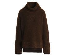 Wool-blend bouclé turtleneck sweater
