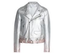 Dégradé leather jacket