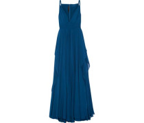 Silk-chiffon gown