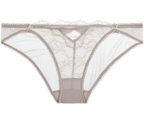 Petunia Passion low-rise lace-paneled stretch-mesh briefs
