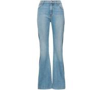 Striped High-rise Flared Jeans Mid Denim  4
