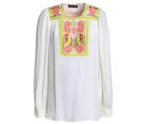 Mimi embellished crepe de chine tunic