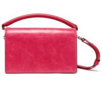 Leather Shoulder Bag Fuchsia Size --
