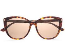 D-frame Tortoiseshell Acetate Sunglasses Dark Brown Size --