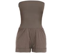 Zéphyr Maestrale Slub Cotton-jersey Playsuit Taupe Size 1