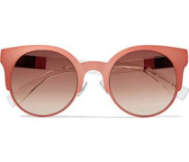 Cat-eye Aceate Sunglasses Coral Size --