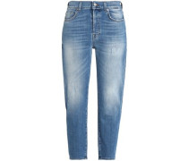 Josefina cropped distressed boyfriend jeans