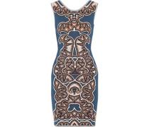 Cyra Jacquard-knit Mini Dress Cobalt Blue