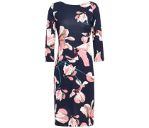 Floral-print Ponte Mini Dress Navy