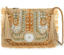 Maliah embellished jute shoulder bag