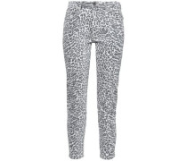 The Stiletto Leopard-print Mid-rise Skinny Jeans Animal Print  3