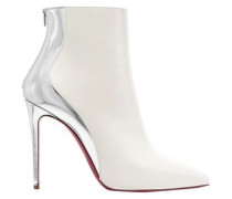 Delicotte 100 Smooth And Mirrored-leather Ankle Boots White