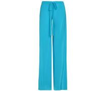 Silk crepe de chine flared pants