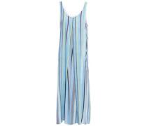 Striped Mousseline Nightdress Light Blue