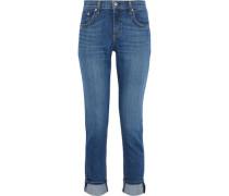 Dre Faded Mid-rise Slim-leg Jeans Mid Denim  5