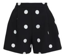 Polka-dot jacquard shorts