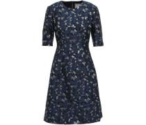 Metallic Brocade Dress Navy