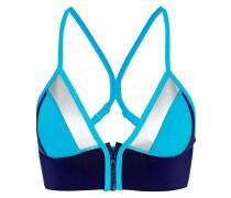Color-block Neoprene Bikini Top Turquoise