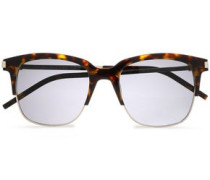 D-frame Tortoiseshell And Gold-tone Sunglasses Brown Size --