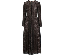 Broderie anglaise cotton and silk-blend midi dress